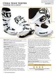 gaerne sg12 motocross boots motocross action magazine have you seen the new mxa see what you