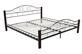Metal Bed Frame With Wooden Slats German Furniture Metal Bed Frame With Wooden Slats