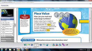 5th Grade Math Worksheets Online Envision Math 5th Grade Common Core Learning Place Value Topic
