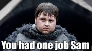 Sam Meme - you had one job sam you had one job know your meme