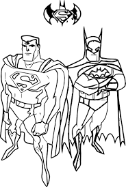 batman superman coloring wecoloringpage