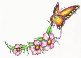 butterfly and flower clipart free best butterfly and