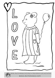valentines teddy bear coloring pages toby u0027s valentines bear
