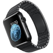 black stainless steel link bracelet images Apple watch 42mm space black stainless steel case with jpg