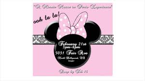 minnie mouse in paris themed animated birthday invitation youtube