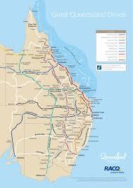 map of queensland queensland drive map outback queensland australia