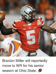 Braxton Miller Meme - discover braxton miller will reportedly move to wr for his senior