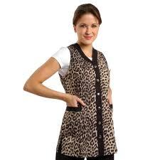 hair fashion smocks amazon com sleeveless leopard salon smock m 8 childrens