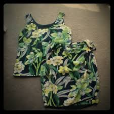 hawaiian pattern skirt dana buchman dresses skirts dana buchman hawaiian pattern skirt