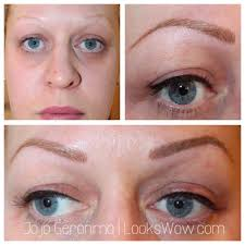 blonde feathering eyebrow tattoo by jojo yelp