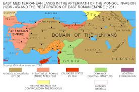 Mongolian Empire Map Greek History And Prehistory Mongol Invasions In Byzantine Asia