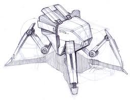 sketch a day 167 bug bot sketch a day sketches by spencer nugent