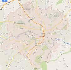 Google Map Virginia by Roanoke Virginia Map