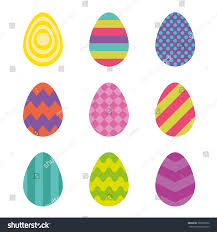 vector easter eggs isolated easter eggs stock vector 382899952