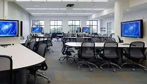 Knoll Propeller Conference Table Group Study Area With Chadwick Task Chairs And Propeller