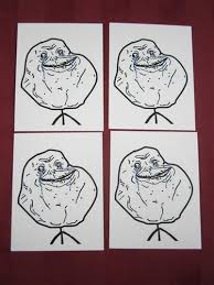 Forever Alone Guy Meme - rage face y u no meme lot of 4 peel and stick vinyl decal