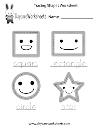 preschoolers can trace a square rectangle circle and a star and