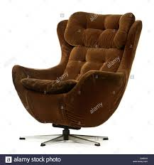Swivel Bucket Chairs Vintage 1969 Swivel And Tilt Brown Egg Chair By Vono Stock Photo