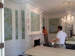 Hand Painted Wallpaper by Reusing Gracie Wallpaper The Well Appointed House Blog Living