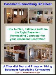 build or remodel your own house construction bids too high basement remodeling bid sheet basement remodeling cost plan