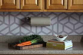 how to paint tile backsplash in kitchen how to paint a geometric tile kitchen backsplash