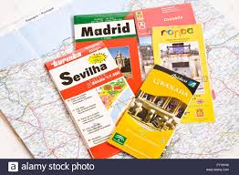 Map Of Spain by Travel Brochures And Map Of Spain Stock Photo Royalty Free Image