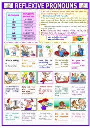 english teaching worksheets reflexive pronouns