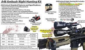 Coyote Hunting Lights Wicked Lights A48 Ambush Night Hunting Kit Red U2013 Boondockoutdoors