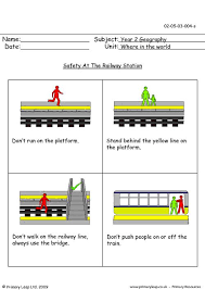 primaryleap co uk safety at the railway station worksheet