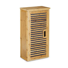 relaxdays bamboo bathroom cabinet size 66 x 35 x 20 cm with 2
