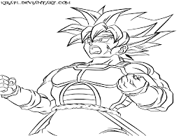 dragon ball z goku super saiyan 5 free coloring pages on art