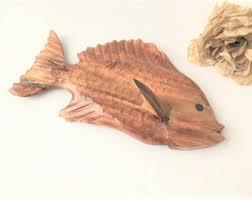 carved wood animal etsy