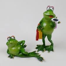resin frog figurines modern home sculpture dolls resin model