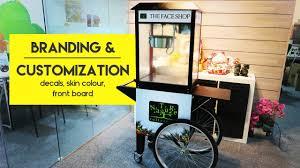 popcorn cart branding u0026 customization partymojo food stations