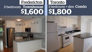 house for rent 1 bedroom what toronto s average monthly rent of 1 800 gets you in cities