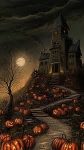 halloween haunted house pumpkin sony xperia z2 wallpapers xperia