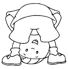 dibujos de caillou para colorear dibujos para colorear