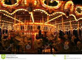 merry go at stock image image of lights turn 697663