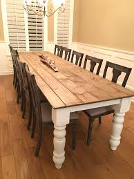 Farmers Dining Table And Chairs Diy Farmhouse Table My Husband Made My 10 Foot 8 Inch Farmhouse