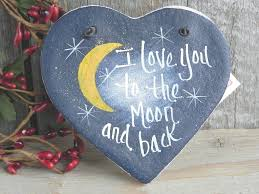 i you to the moon and back ornament ornament moon and rock