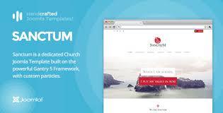 it sanctum gantry 5 church u0026 nonprofit joomla template by