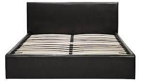 black faux leather double bed black furniture george