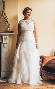 plus size bridal gowns with short long sleeves full figured