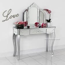 glass vanity table with mirror venetian mirrored vanity makeup dressing table table designs