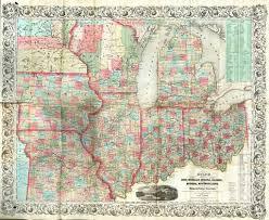 Iowa Illinois Map Guide Through Ohio Michigan Indiana Illinois Missouri