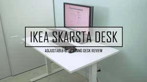 Sit To Stand Desk Ikea by Ikea Skarsta Sit Stand Desk Review Youtube