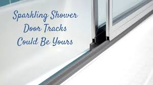 How To Clean Shower Door Tracks Best Way To Clean Shower Door Tracks Clean Shower Doors Clean