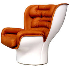 Reupholster Leather Chair Joe Colombo Elda Chair Reupholstered In Cognac Aniline Leather At