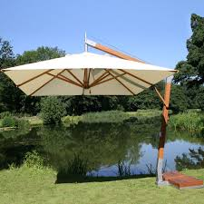 furniture grey cantilever umbrella with iron stand for patio