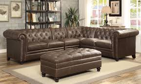 Sectional Sofa With Ottoman Coaster Roy Button Tufted Sectional Sofa With Armless Chair